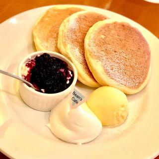 水きりヨーグルト&ブルーベリーソース&アイスクリーム(ビーンズカフェ )