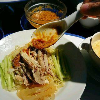 棒棒鶏冷麺セット(華都飯店)
