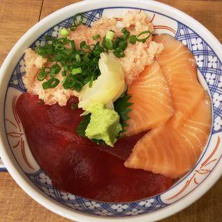 まぐろサーモンねぎトロ丼(磯丸水産川崎駅前店)