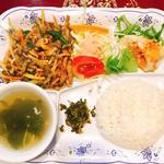 牛肉と高菜のピリ辛炒め