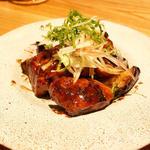 豚肩ロースの西京焼と茄子の炒め