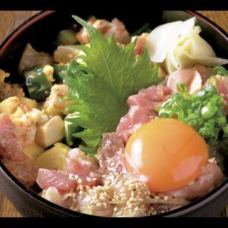 ハーフ丼(塩たたき&あられ)(人形町 花 )