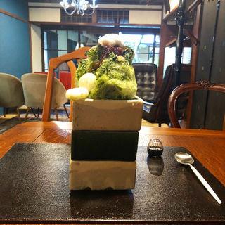 抹茶かき氷(salon de 櫻ガ薫ル)