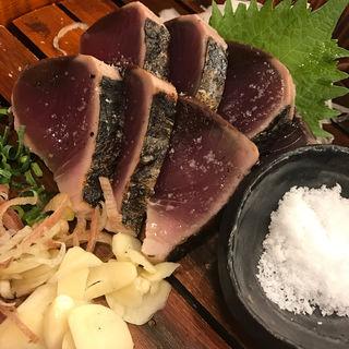 わら焼き鰹の塩たたき(土佐わら焼き 龍神丸 西神中央店)