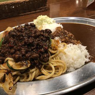 黒キーマカレー焼スパ&カレー(ほぉーバル )
