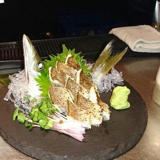 本カマスの炙り刺身(お酒と和ごはん KINJO)