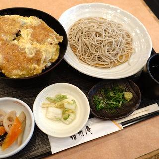 ヘレカツ丼定食・冷たい蕎麦(蕎麦 吉村 )