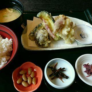 お漬物天ぷら膳