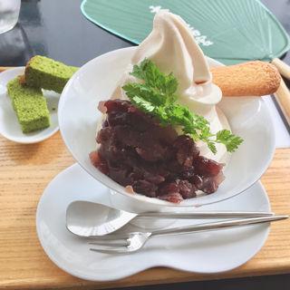 煮汁ソフトクリーム(単品)(神宗 淀屋橋店 (かんそう))