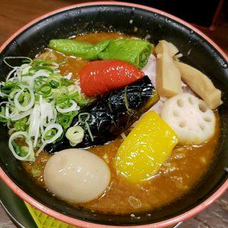 夏野菜入り次世代キーマカレーラーメン(まりお流 )