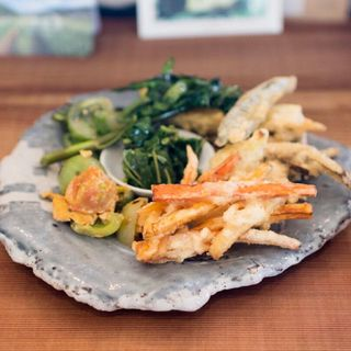 旬野菜天ぷら(八葉食堂)