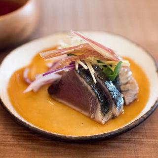 カツオタタキ(八葉食堂)