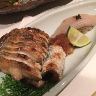 太刀魚の塩焼きと握り(たちじゅう園 )