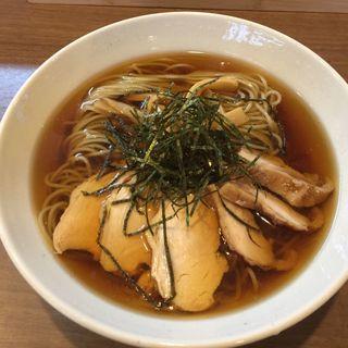 焼き煮干し冷やしラーメン(自家製麺 麺屋 翔)