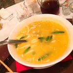 フカヒレ 枝豆入り南瓜スープ