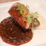 牛フィレ肉とフォアグラのソテー、ロッシーニ風