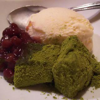 抹茶わらび餅アイス(しゃぶしゃぶ温野菜 池上店 )