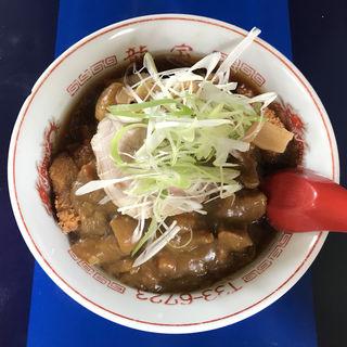 カツカレーラーメン 正油味(龍宝)