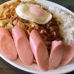 焼そばライス/大盛+目玉焼き+ギョニソ(焼そば ランラン)