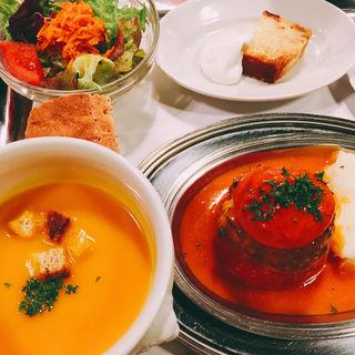 丸ごとトマトの肉詰めロースト プロバンス風 (ワンプレートランチ)(クレッソニエール )
