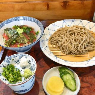 せいろ蕎麦+鉄火丼(ささ家)
