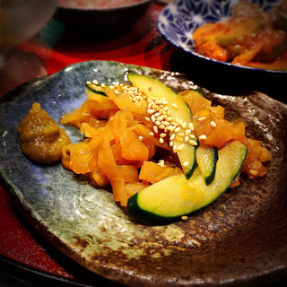 中華クラゲの柚子胡椒和え(もつ焼き勝利はなれ)