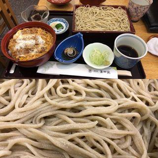 そばと丼のセット(カツ丼)(大井三ッ又 吉田家 (おおいみつまたよしだや))