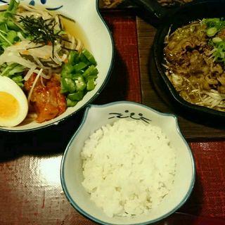 黒麦冷麺セット(のらや なんばCITY南館店 (【旧店名】手打草部うどん のらや))