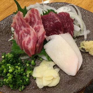 馬刺3点盛(馬肉料理専門店 蹄 名古屋新栄本店)