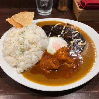 赤黒ハーフ&ハーフ(カラクサカレー (KARA-KUSA curry))