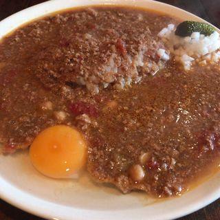キーマカレー ( 辛口+¥50 生卵+¥50 )(ヒラソル )