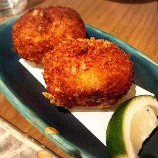 蟹クリームコロッケ(藁焼  みかん)