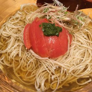 冷やしトマト蕎麦(浜町 かねこ)