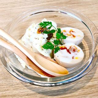燻製半熟玉子のポテトサラダ(HOP STAND 神戸モザイク店)