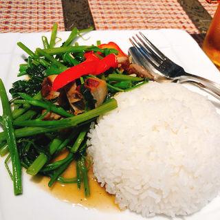 空芯菜ライス(タイレストラン Smile Thailand (スマイルタイランド))