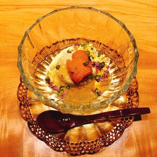うにの冷製プリン(スーパー ダイニング ジパング 赤坂エクセルホテル東急店 (SUPER DINING ZIPANGU))