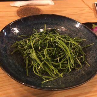 豆苗炒め(お酒と和ごはん KINJO)