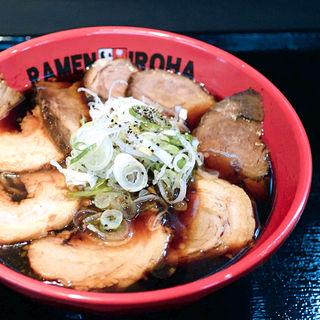 富山ブラックW肉盛りそば(麺家いろは 高松ライオン通り店)