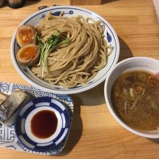 サバ濃厚鶏つけ麺+サバ寿司(サバ6製麺所)
