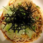 極太麺の麻辣冷麺