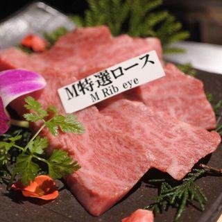 特選ロース定食(松阪牛焼肉 M 法善寺横丁店 (エム))