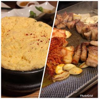 サムギョプサルとケランチム(豚ぜん (トンゼン))