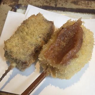 生麩のナッツ味噌とごぼうと牛肉(根津 はん亭)