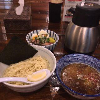 特製鶏めし+鶏つけそば(らぁめん 欽山製麺所)
