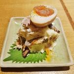 鯖燻製と半熟玉子のポテトサラダ(なかめのてっぺん 本店 )