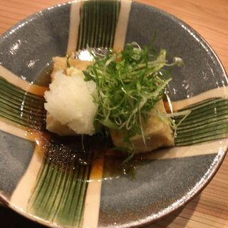 揚げ出汁豆腐(くずし割烹おにかい)
