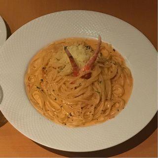 蟹のトマトクリームスパゲッティ(パラフレーズ )