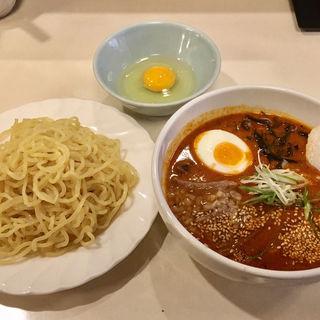 ユッケジャンラーメン分け麺Ver.+生卵(焼肉亭サム)