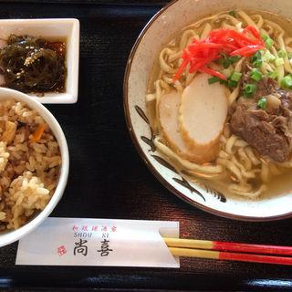 沖縄そばセット(尚喜 (しょうき))