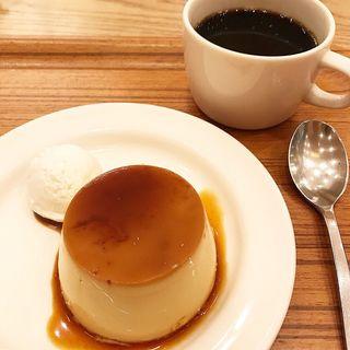 和三盆糖プリン(カフェ&ミール ムジ 新宿 (Cafe&Meal MUJI))